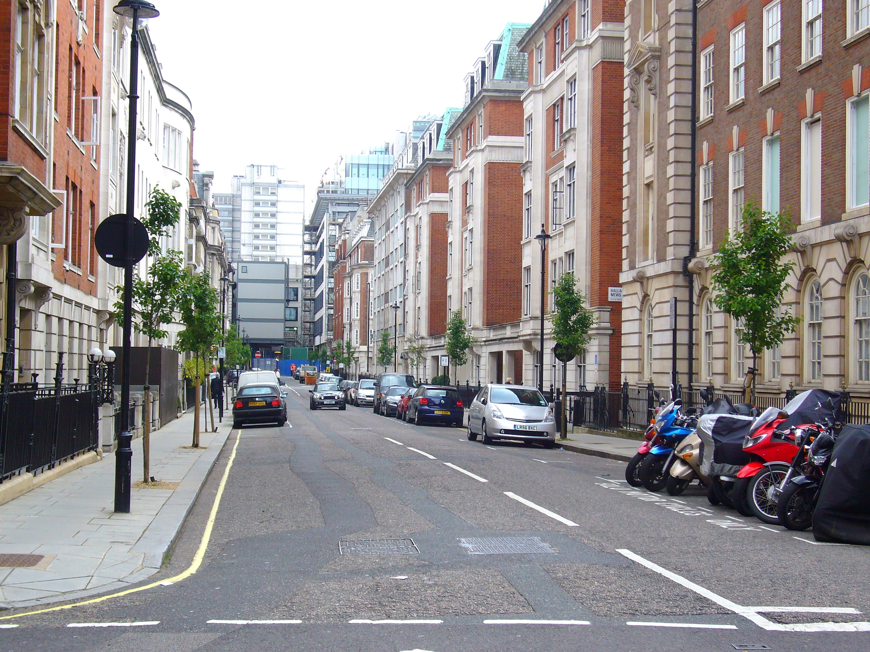 Trees Arrive on Hallam Street in Marylebone, London W1 | The W1W Tree ... Street