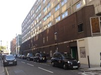 no trees yet along Bolsover Street Holiday Inn Hotel