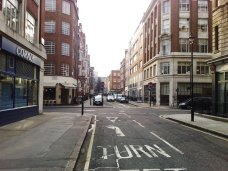 Bolsover Street Westminster before trees