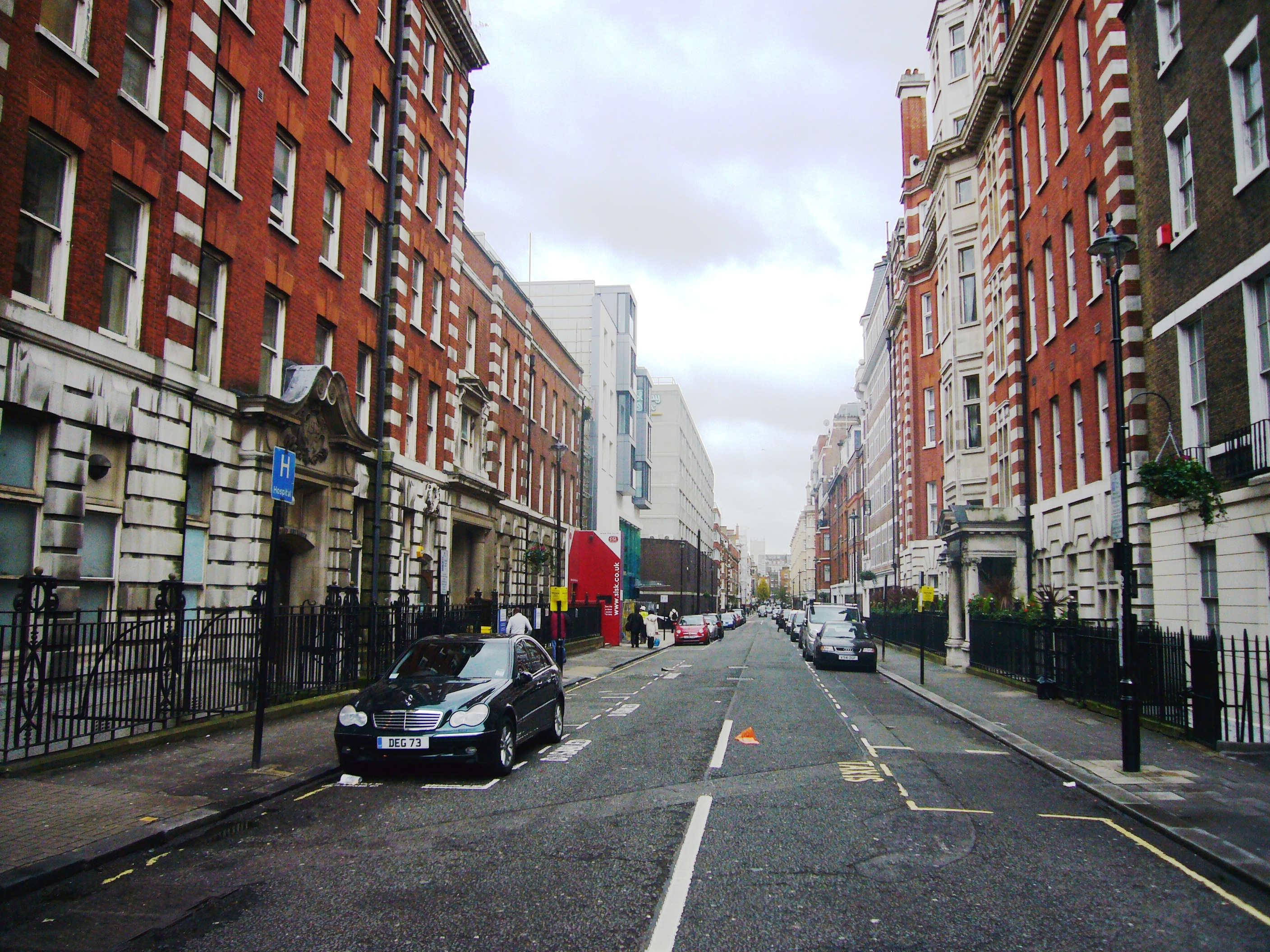 ... of Bolsover Street as seen from Great Portland Street Station (2009