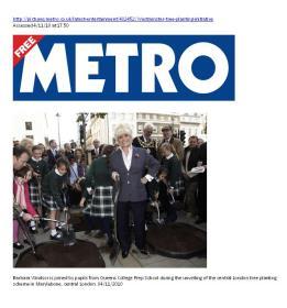 Metro London November 2010