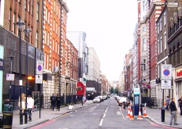 View of Bolsover Street before trees appeared