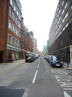 Bolsover Street's hard ungreen streetscape