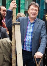 Alan Titchmarsh planting in Marylebone