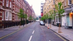 Bolsover Street  in Marylebone after trees were planted