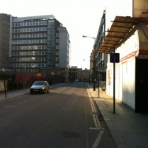 Fitzrovia South - Newman St. Facing South from Eastcastle
