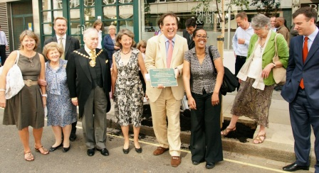 Commemorative Plaque for the opening of the Fitzrovia Community Centre