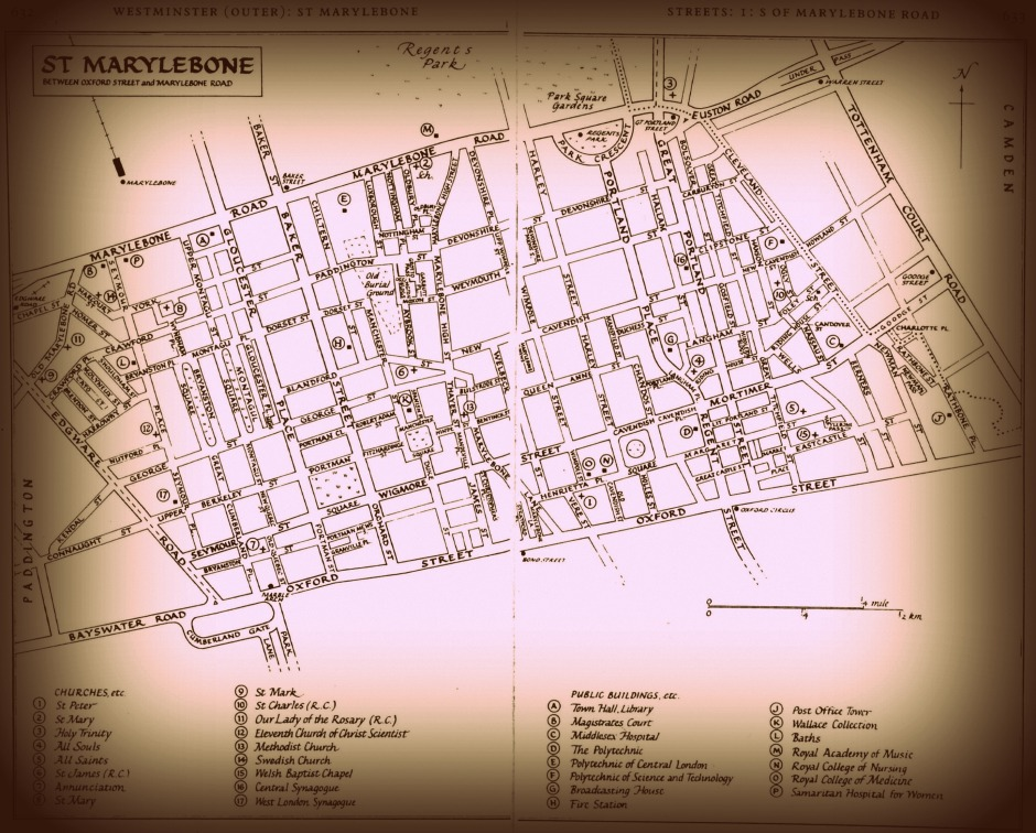 Map of St Marylebone