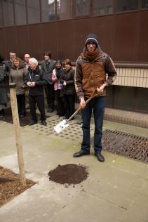 Tarik Mahriat Students' Union representative - Tree Planting Cleveland Street