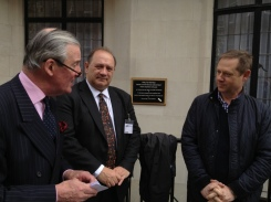 Lord Glenarthur with Peter Ruback CBE, Chairman of Westminster Tree Trust and Chris Colwell of Westminster City Council's Arboricultural Section